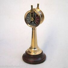 BRASS ENGINE ORDER TELEGRAPH ON WOODEN STAND Chad burn Ship's Brass NewYear