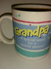 Vintage 1985 Hallmark Smiley Face Coffee Mugs Grandpa is a Special Person