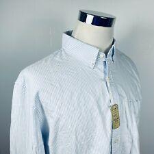 NWT J Crew Mens XL Slim Fit Oxford Shirt Blue White Striped Cotton Button Down