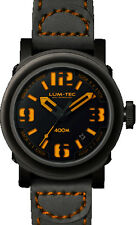 Lum-Tec Watch - ABYSS 400M -400M-4 (42mm) Automatic Men Black Strap Brown Stitch