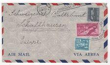 1956 CARIBBEAN Air Mail Cover to SCHAFFHAUSEN SWITZERLAND