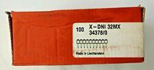 100 chiodi Hilti X-DNI 32MX per chiodatrice DX36M DXA40X DXA41X 10x10 Nuovo