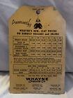 Rare CATERPILLAR Dealership Hang Tag WAYNE SUPPLY 1958 Rare Cardboard Sign