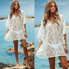 Sexy Women Lace Crochet Bathing Suit Bikini Swimwear Cover Up Beach Dress Hot 1x