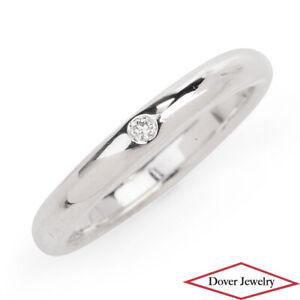 Tiffany & Co. Peretti Diamond Sterling Silver Stack Band Ring NR