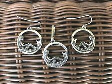 Fantasy Jewelry 2 Set Mermaids Pewter Earring & Zipper-Pull All New