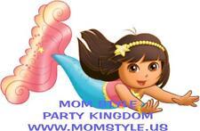 Dora Mermaid Iron-on Transfer for white T-shirt