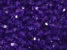 Beads 12mm Faceted Plastic Purple 100g Bulk Pack Craft Party FREE POSTAGE