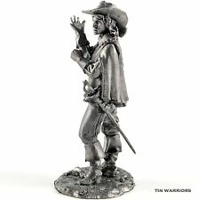 France. Royal Musketeer Athos Tin toy soldier miniature figurine metal sculpture