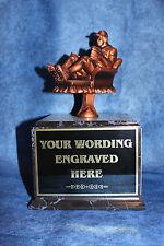 Fantasy Baseball 18 Yr Perpetual Trophy with Black Base. Free Engraving!