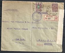 Russia 1918 cens R-cover Moscou to New York