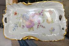 Vintage Beautiful Vanity Tray & Wall Plate, Signed Sarah Selin