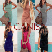 Canis Women's Bandage Bodycon Short Sleeve Clubwear Party Cocktail Mini Dress