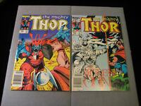 The Mighty THOR #348 And #349 (1984, Marvel) Newsstand