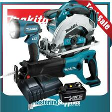 Makita Cordless BSS611 Saw BJR182 Reciprocating Saw BML185 Torch Battery Charger