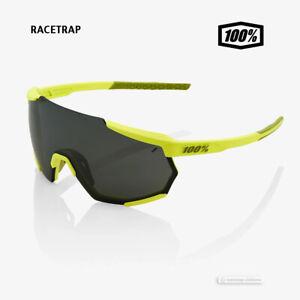 100% RACETRAP Cycling UV Sunglasses : SOFT TACT BANANA/BLACK MIRROR