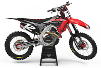 Honda Factory Red Black Graphics Kit Mx Honda CRF 250 450 2018 2019 2020