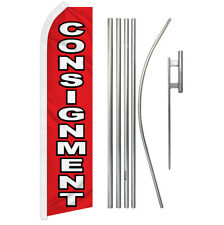 Consignment Swooper Flutter Feather Advertising Flag Kit Venta Consignacion