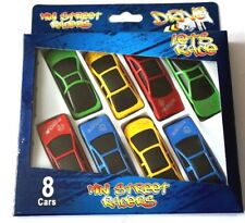 8 MINI CAR KIDS BIRTHDAY PARTY BAG FILLERS TOY PINATA BLUE RED GREEN YELLOW LOOT