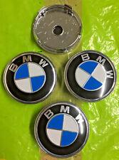 BMW Wheel Centre Cap 60mm Blue Badge Set Of 4 Hub Caps Decal Emblem 3D Logo UK