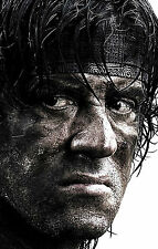 Incorniciato stampa-RAMBO (PICTURE MOVIE ARTE CINEMA DVD Blu-Ray STALLONE ROCKY attore)