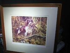More details for mick cawston english springer spaniel dog signed limited edition print m cawston