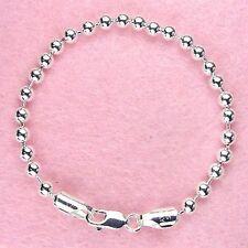 Sterling Silver - 9 inch 5mm Bead Bracelet (BR125L09)