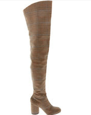MAISON MARTIN MARGIELA  Brown Tweed Over The Knee Boots Size UK 4/EU 37 £1,095