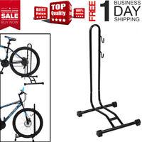 Bike Bicycle Coated Floor Stand Bike Display Rack Storage Holder 2in1 w/2*hooks