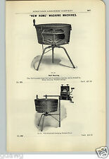 1906 PAPER AD New Home Louisaiana Cypress Wood Tub Washing Machine Swing Wringer