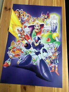 """Mega Man X SNES Super Nintendo Megaman Video Game Art Poster - 12"""" x 18"""""""