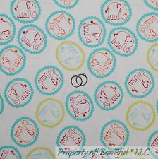 BonEful Fabric Cotton Quilt White Red S Elephant Circus Baby Boy Polka Dot SCRAP