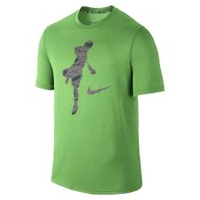 Nike Legend Action Shot Lacrosse Lax Dri-Fit T-Shirt Green Spark 647513 Medium