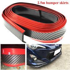 2.5m Car Front Lip Bumper Carbon Fiber Style Modified Strip Sticker Protection