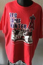 "VTG Angels Baseball Graphic T-shirt ""Big Game Hunter"" XL Men's Red By Anvil"