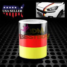 "10""x98"" Germany Flag Stripe Decal Stickers For Audi BMW Mercedes MINI Porsche VW"