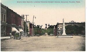 c.1910 Street Scene Postcard Pulaski, TN Tenn Tennessee Giles County, TN NICE!!!