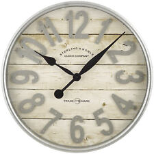Galvanized Finish Wall Clock Better Homes and Gardens Farmhouse Plank