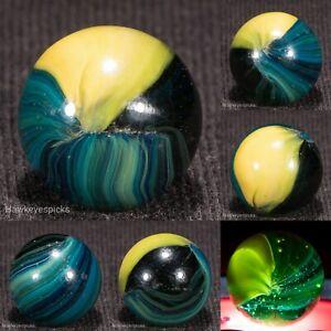 """YASUDA """"Wales"""" STRIATED Pincer Japanese Vintage Marble NM+ 5/8 hawkeyespicks"""