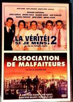 2 DVD. LA VÉRITÉ SI JE MENS ! 2 ET ASSOCIATION DE MALFAITEURS Ref 0047