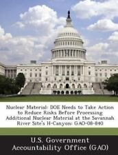 Nuclear Material: Doe Needs to Take Action to Reduce Risks Before Processing Add