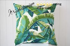 Outdoor Green and Turquoise Palm Banana Leave 45cm Cushion/throw Cushion Cover