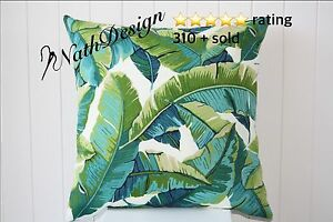 Indoor/Outdoor Green and Turquoise Tropical Palm Leave 45cm Cushion Cover