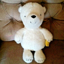 "Hallmark Talking Bear What Will You Wish For White 15"" Plush Holding Yellow Star"
