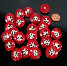 24 Stück  sehr schöne  Knöpfe  rot 20mm Sonderposten K/50