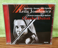 Leila Josefowicz Mendelssohn & Glazunov: Violin Concertos CD Charles Dutoit