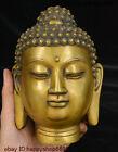 8  China Buddhism Brass Temple Sakyamuni Shakyamuni Amitabha Head Buddha Statue