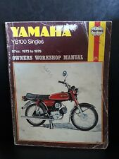 Yamaha YB100 Singles Haynes Owners Workshop Repair Service Manual 1973 to 1979