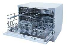 Sunpentown Countertop Dishwasher with Delay Start & Led - Silver Sd-2225Ds