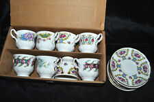 Beautiful Queen Anne Set 8 Cups And 7 Saucers Combo England Bone China